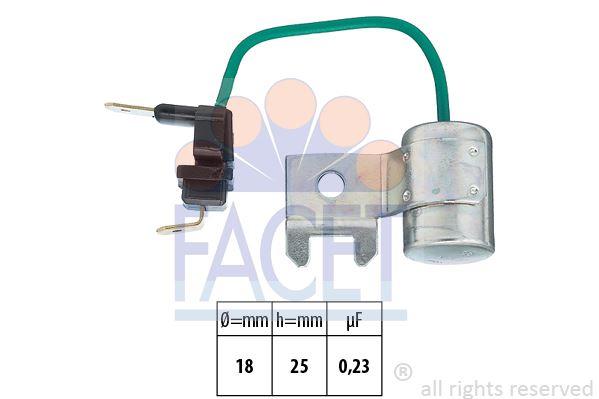 Kondensator, układ zapłonowy FACET 0.0179/95