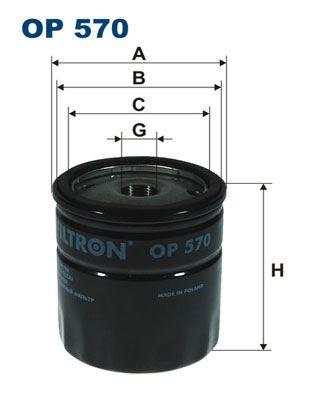 Filtr oleju FILTRON OP 570