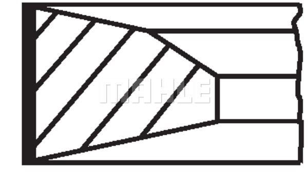 Zestaw pierścieni tłokowych MAHLE 005 23 N0
